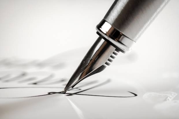 Pen Writing Letter Signature Paper Fountain Pen Document